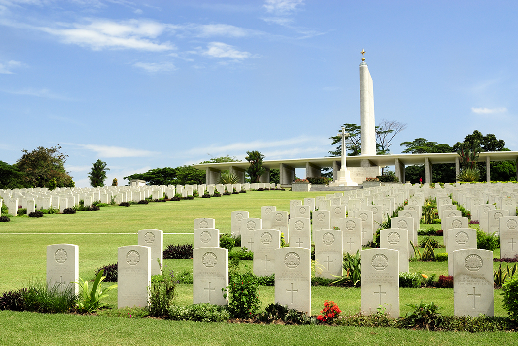 The Kranji War Memorial provides the backdrop for seniors to learn about our history.