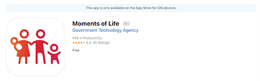 Moments of Life app on Apple App Store