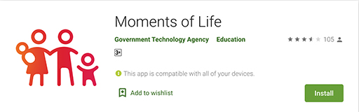 Moments of Life app on Google Play Store