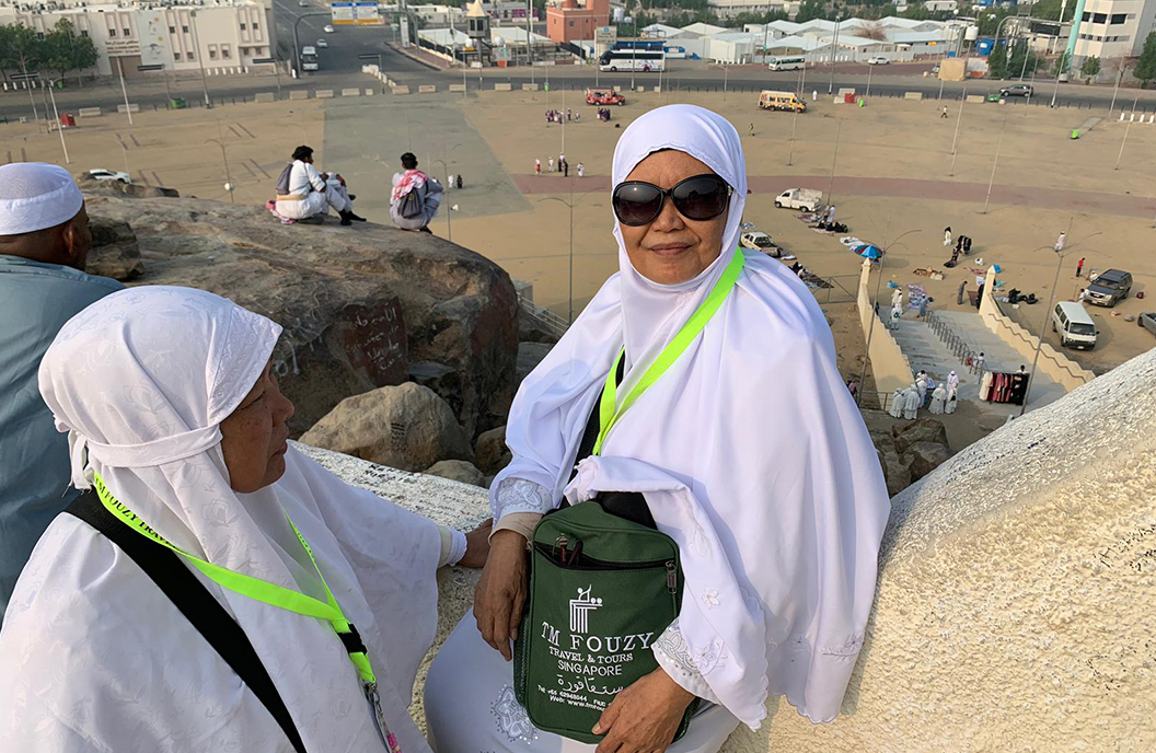 Mdm Serwati fulfilling her lifelong dream of a pilgrimage to Mecca